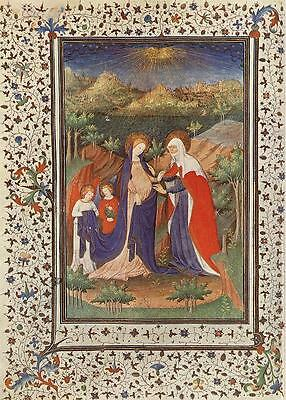 Photo/Poster - French Book Hours Marechal Boucicaut - Manuscripts Miniatures Fro