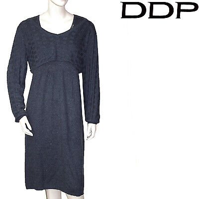 Robe grise laine DDP caraco amovible femme taille XL