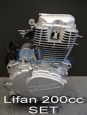 Lifan 200Cc 5 Speed Engine Motor Cdi Motorcycle Dirt Bike Atv Gokart H En25-Set