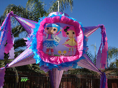 Lalaloopsy Pinata Star Shape Festive Holds 2 to 5 Pounds Candy Party Favor!