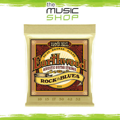5 x Ernie Ball 2008 Earthwood Rock & Blues Bronze Acoustic Guitar Strings Cheap