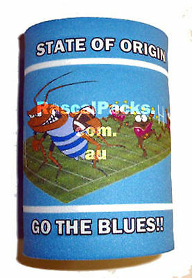 State of Origin Cockroach scoring try STUBBY COOLER HOLDER NSW blues Fathers day