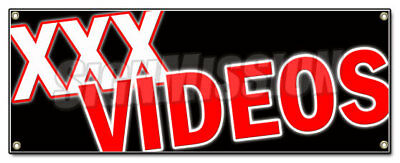 XXX VIDEOS BANNER SIGN dvd adult films movies x rated rental sales x-rated sex