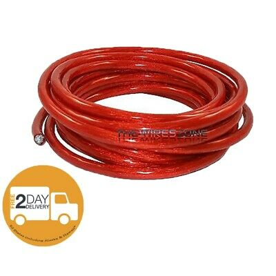 Red 4 Gauge 20' Feet Power Cable Wire