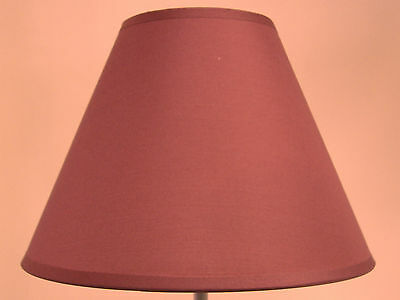 """Brand New 9"""" Cotton Coolie Pendant Or Table Lampshade In Burgundy Colour"""