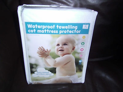 Kids/Child Cot/CotBed Mattress Waterproof Towelling Fitted Sheet Protector Cover
