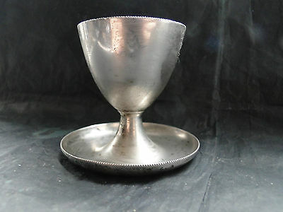 English Egg Cup Sterling Silver Made In Sheffield 1919 Walker And Hall Marked