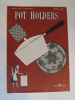 "Vintage Gay & Gifty Pot Holders Directions Booklet ""Pot Holders"" no. 243 c.1948"