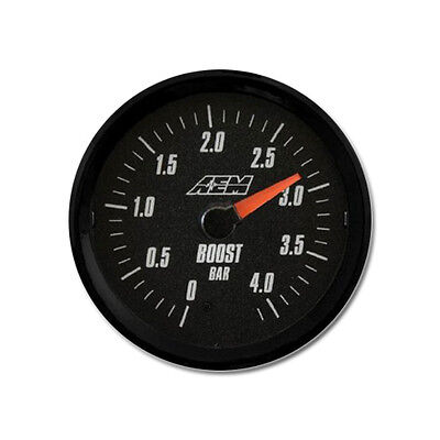 AEM Analog Turbo Boost Gauge 0 a 4.1BAR, bianco e nero,  PN: 30-5137M