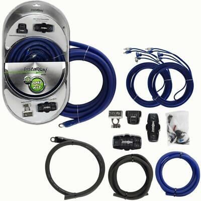 THE INSTALL BAY AK01 1/0 AWG COMPLETE DUAL AMP KIT WITH  RCA UP TO 3600W SYSTEM