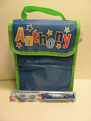 Anthony  Lunch Bag and Toothbrush       New