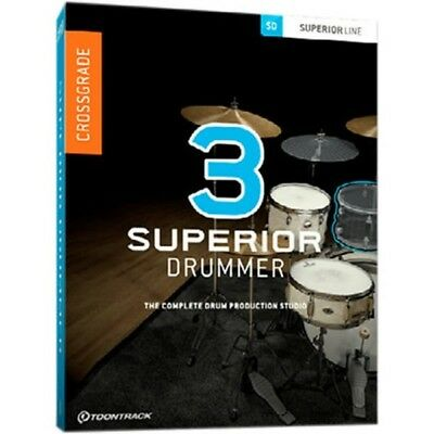 Toontrack Superior Drummer 3 Cross Grade from EZD2 - Electronic Download