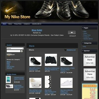 NIKE SHOES & APPAREL STORE -Professionally Designed+Make Money Affiliate Website