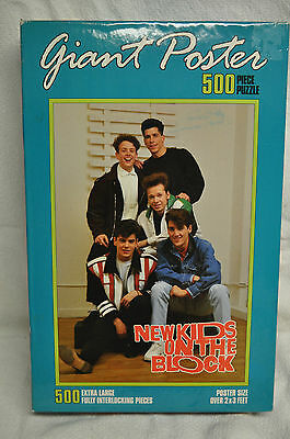 Giant Poster Puzzle New Kids On The Block Unopened Box 500 PC 2' x 3' Size NIB