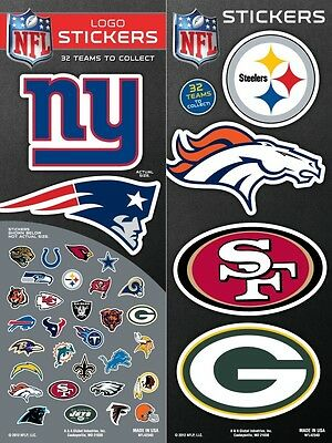 NFL Football Team Logo Sticker Chose Your Own Team NEW! All 32 Available!
