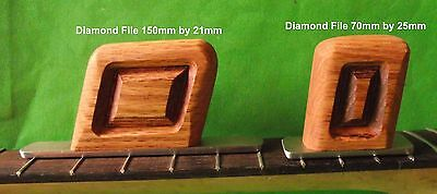 Two Guitar Fret Levelling Tools with Fine Grit Diamond Files:150 & 70mm  TF022