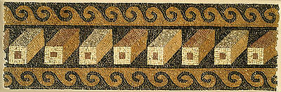 Aphrodite- Ancient Roman Mosaic Panel With Geometric Pattern