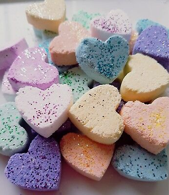 10 New Scents/handmade Fizzy Bath Bomb Hearts Wedding Favors/baby Showers/gifts