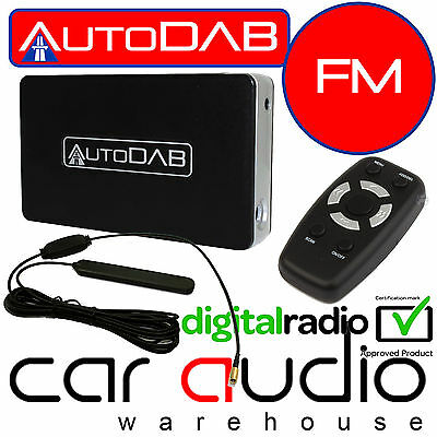 AUTODAB FM - Universal Hideaway Add On Car DAB DAB+ Digital Radio Tuner Receiver