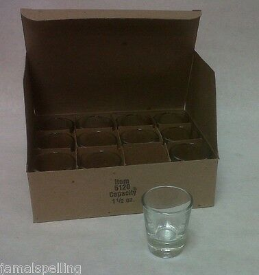 Libbey 5120 1.5oz.  Shot Glass Shooter CASE/12 Free Ship