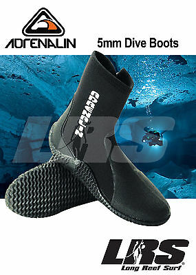 NEW ADRENALIN 5mm Neoprene Zip Dive Boot  Diving Shoe Watersport Scuba Boots