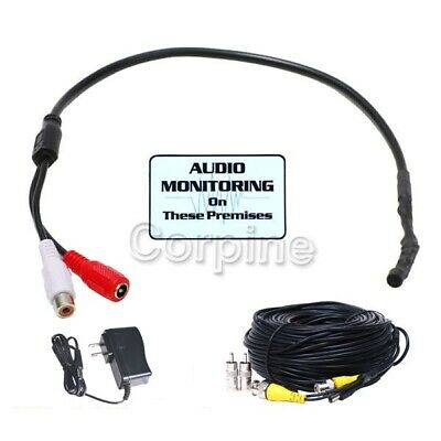High Sensitive Spy Mini Preamp Audio Microphone Kit for CCTV Security Camera 1ub