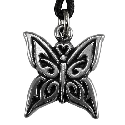 Pewter Celtic Knot Butterfly Spirit Guide Pendant Fairy Faerie Necklace Jewelry