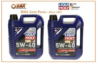 Liqui Moly High Tech German Full Synthetic Motor Oil - 5W40 - 10 LITERS