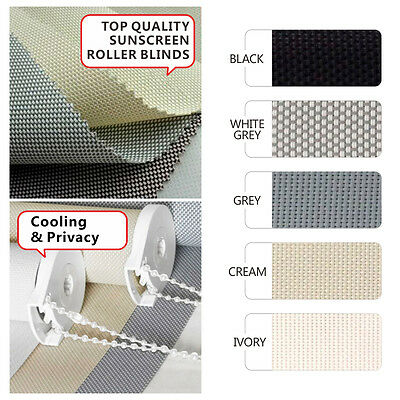 5 COLORS 60~240cm (Width) x 210cm (Drop) SUNSCREEN Roller Blind - NEW
