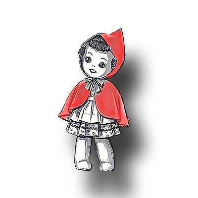 Vintage Little Red Riding Hood Doll Pattern