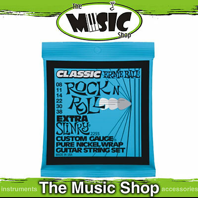 10 Classic Ernie Ball 2255 Rock N Roll Extra Slinky Electric Guitar Strings 8-38