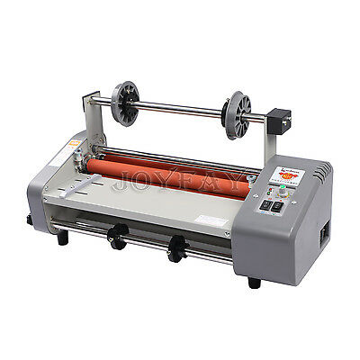 "13"" Roll Laminator Four Rollers Hot Cold Laminating Machine 220V A3 Paper 330mm"