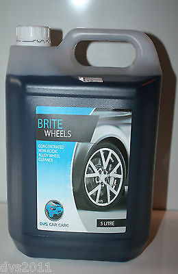 Alloy Wheel Cleaner,non Acid. 5 Litre Acid Free* Brite Wheels * Special Offer