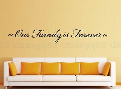 Our family is forever Wall Quotes decal Removable stickers decor Vinyl home art