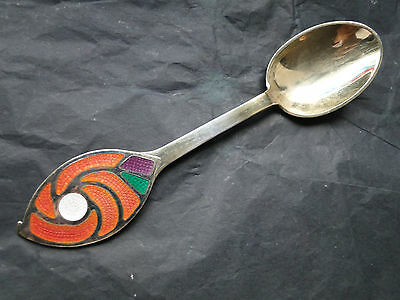 Danish Michelsen Silver  Gilded And Enamel Christmas Spoon-   Made In 1971