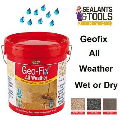 GEO-FIX All Weather Paving Jointing Compound Mortar Pointing Grey or Stone