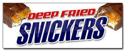 """12"""" DEEP FRIED SNICKERS DECAL sticker  fresh candy bar fryed stick candybars"""