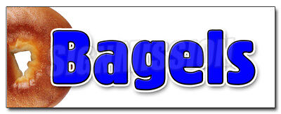 "12"" BAGELS 1 DECAL sticker made fresh daily baked water bialys new york style"