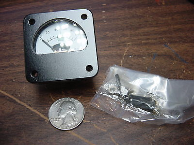 cmc 333-051 0 - 100 Micro AMP electric ammeter military square 1 3/4 x 1 3/4 new