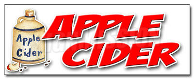 "24"" APPLE CIDER DECAL sticker fresh orchard produce picked homemade ripe"