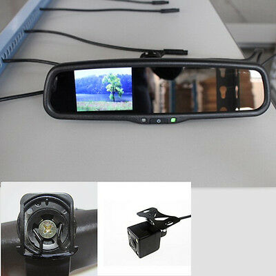 "car rearview mirror+3.5"" reversing display+camera,fit Hyundai,KIA,Ssangyong,UK"