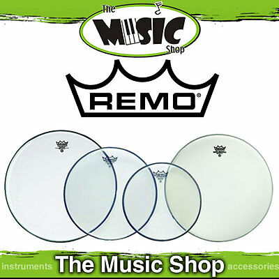 "Remo Pro Head Pack - Emperor Clear Skins 10"", 12"", 16"" + 14"" Ambass - PP-1860-BE"