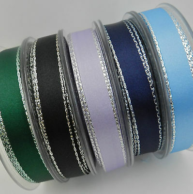TTLGR03 Green 5m x 10mm Shaded Velvet Lame Glitter Ribbon