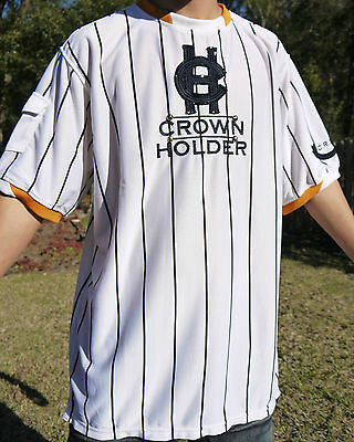 Nwt Authentic Men's Crown Holder White / Gold / Navy Blue Color T-Shirts