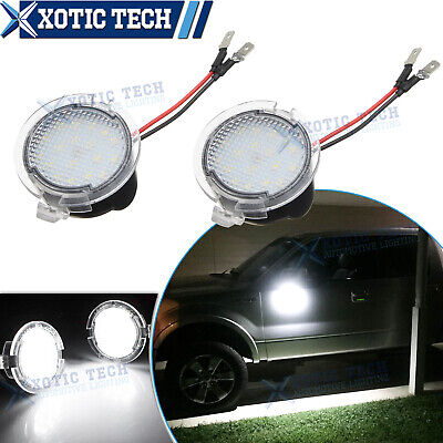 Super White 18-LED Side View Under Mirror Lights for Ford F-150 Explorer 11-18