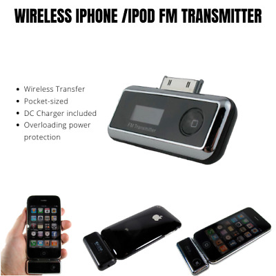 mbeat FM Radio Wireless Transmitter with Car Charger Kit for iPhone 3/4/4s iPod