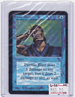MTG:  PSIONIC BLAST Alpha Magic The Gathering ORIGINAL! Blue Card INSTANT