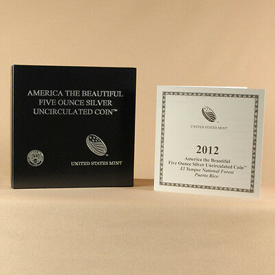 2012-P America The Beautiful NQ0 El Yunque National Park ATB Box and COA Only