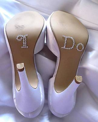 Free US shipping I Do Shoe Stickers for Bridal Shoes Rhinestone Shoe Decals