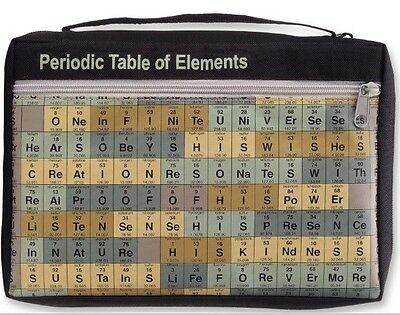Gregg Gift Redeemed Periodic Table Elements Bible Book Cover Science Chemistry